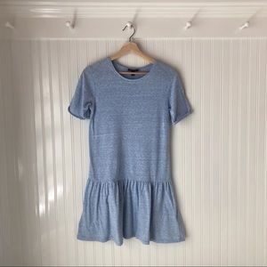 TOPSHOP Low Waist Pale Blue Dress